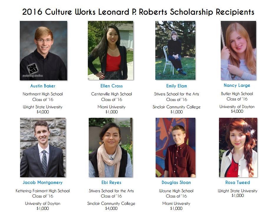 2016 Scholarship Recipients Handout